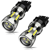 SEALIGHT 3157 LED Bulbs, 3157 LED Brake Lights, 3157 LED Backup Reverse Lights 6000K 3000Lumens Super Bright, 3156 LED…