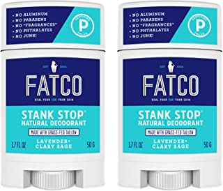 product image for FATCO Stank Stop All Natural Deodorant with Tallow and Organic Coconut Oil – Lavender + Sage 2-Pack (1.7 oz)