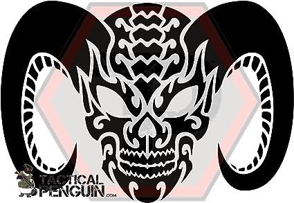 gunkote Tactical Penguin Skull 5 stencil 2 pack for cerakote duracoat Avery paint mask sticky back vinyl