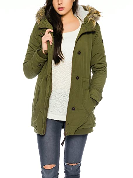 Only Onlvalencia Long Hooded Jacket Otw, Chaqueta para Mujer ...