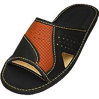 BeComfy Zapatillas de Casa para Hombres 100% Cuero Genuino Punta Abierta | Ligera y Suave | Disponible en Tres Colores…