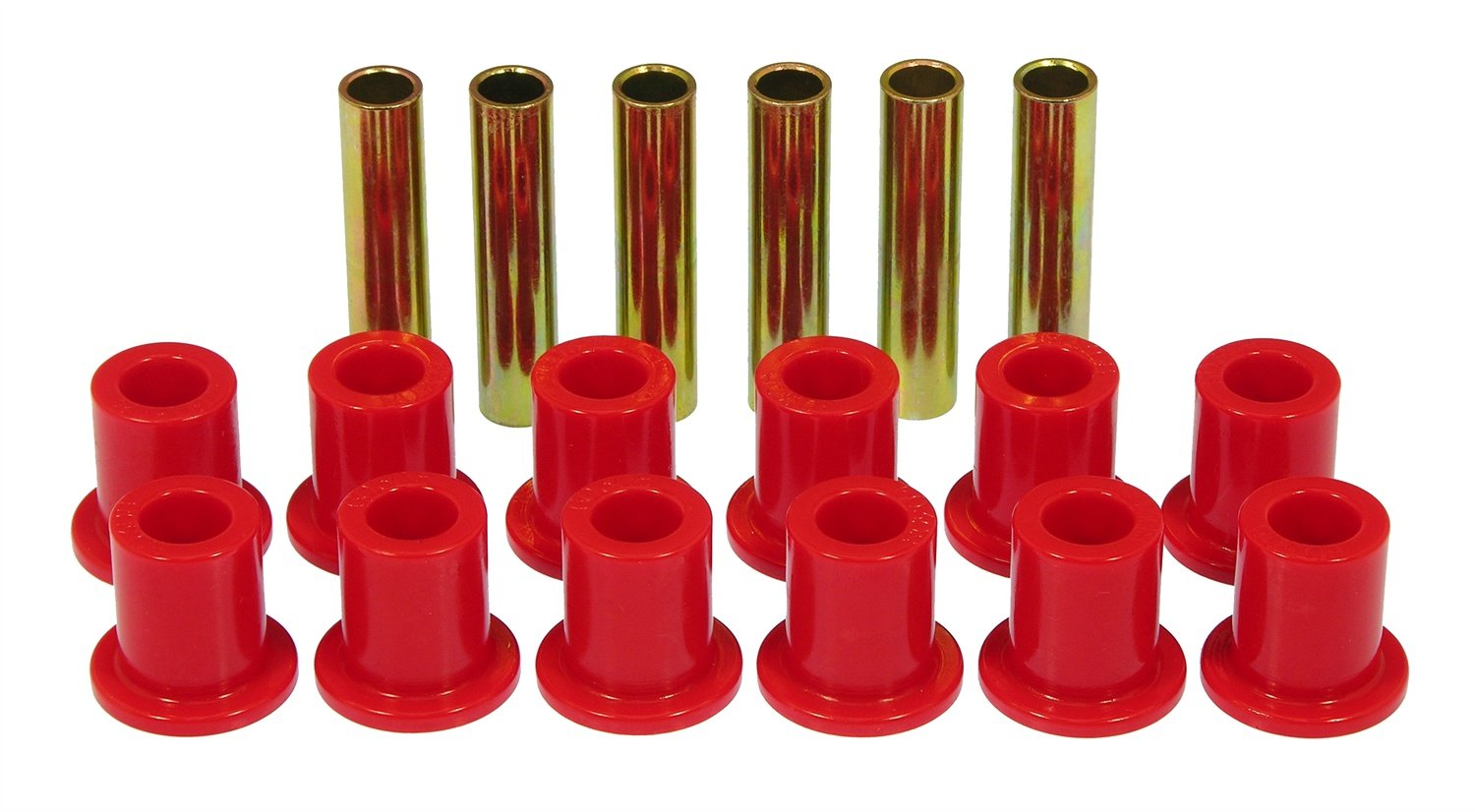 Prothane 6-1009 Red Front Spring Eye and Shackle Bushing Kit