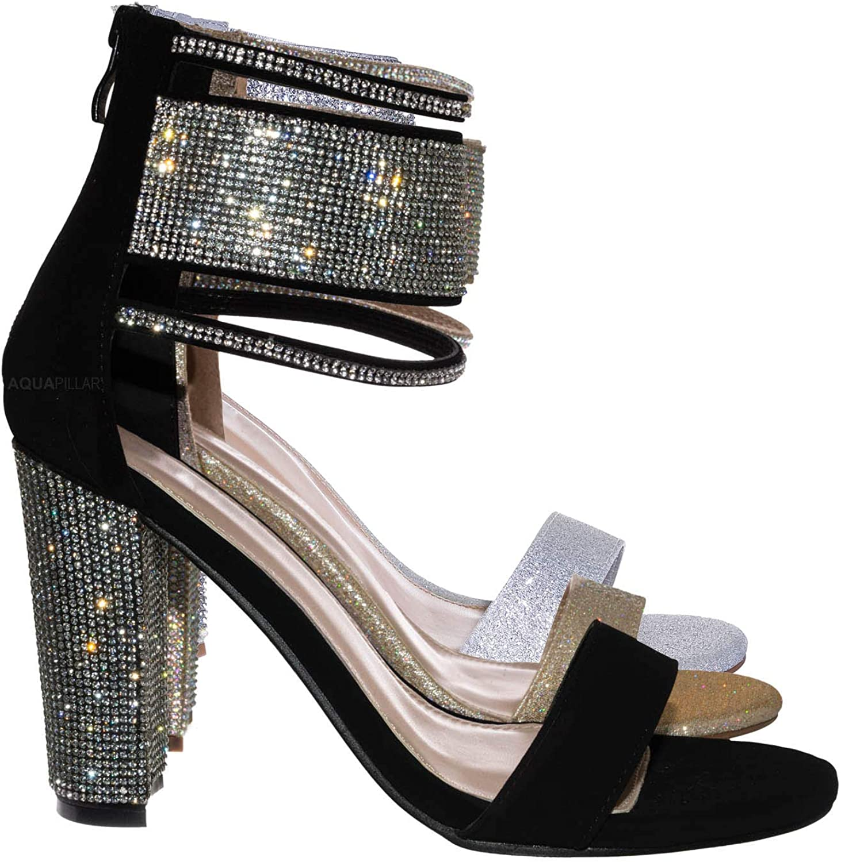 Aquapillar Rhinestone Crystal Dress Sandal - Wedding Party High Heel Shoes