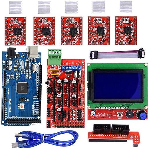 Yzki Kit de Controlador de Impresora 3D para Arduino Mega 2560 R3 ...