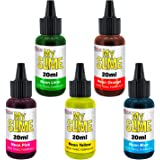 My Slime 5 Color Premium Slime Neon Coloring Set, Large 20 ml Bottles - Non-Toxic Dyes, Works in White & Clear Slime Making Glues, Soaps - Color Mixing Wheel - Neon Pink, Blue, Lime, Yellow, Orange