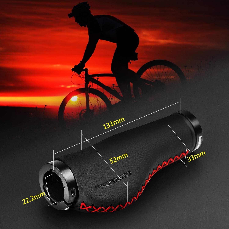 Fahrradgriffe MTB BMX Fahrrad Lenkergriffe Faser Leder Anti-Rutsch Handgriffe