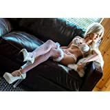 KingMansion 158cm Sexy Brown Piel TPE Entity Body Mouth Vagina Anal Lifelike Sex Doll with Metal Skeleton 3 Entries 5.18ft