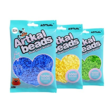 Amazon Artkal Fuse Beads 91 Bags Full Solid Colors Set S 5mm