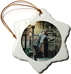 Ceramic Ornament Singin' in The Rain (1952) Hexagon Christmas Ornaments Holiday Season Home Decor Xmas Gift