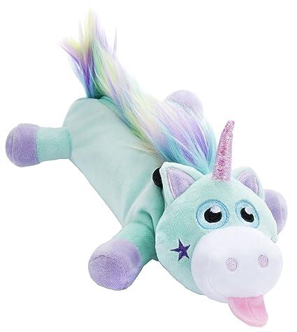 FRINGOO® Estuche para lápices y material escolar con forma de unicornio, de tela de peluche suave