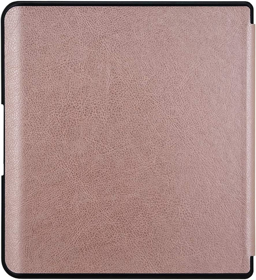 Rose Gold Slim Protective Folio Shell Cover with Magnetic Closure and Stand Function for Newest Released Kobo Forma 8 Inch E-reader MOSISO PU Leather Smart Case Compatible with 2018 Kobo Forma