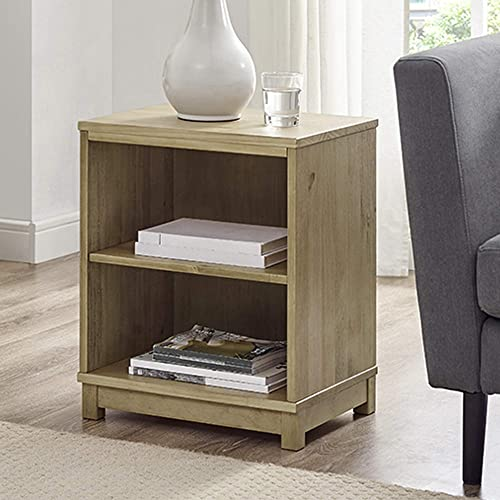 Classic Brands Sam Jack Two Shelf Solid Wood Bookcase End Table, Weathered Rye