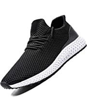 Zeoku Men's Running Shoes Non Slip Fashion Breathable Sneakers Mesh Soft Sole Casual Athletic Lightweight Walking Shoes