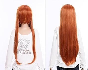 Kawaii-Story W DE 04 DE BC30 Naranja Marrón 80 cm Cosplay Peluca Wig Perruque
