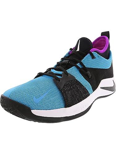 33489c214a3ec Amazon.com | Nike PG 2 Mens Fashion-Sneakers AJ2039-402_10.5 - Blue Lagoon/ Black-Hyper Violet-White | Basketball