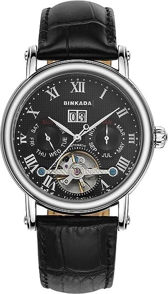 Amazon.com: BINKADA Automatic Mechanical Tourbillon Black Dial Mens Watch #800602-2: BINKADA: Watches
