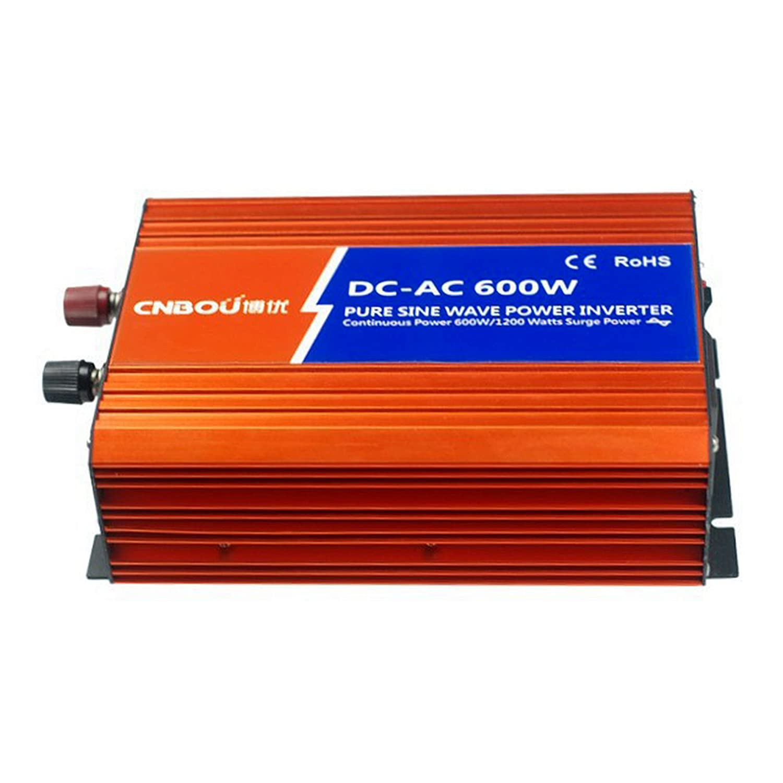 600W 12V Wechselrichter 1200W reine Sinus Welle DC12V AC230V usb