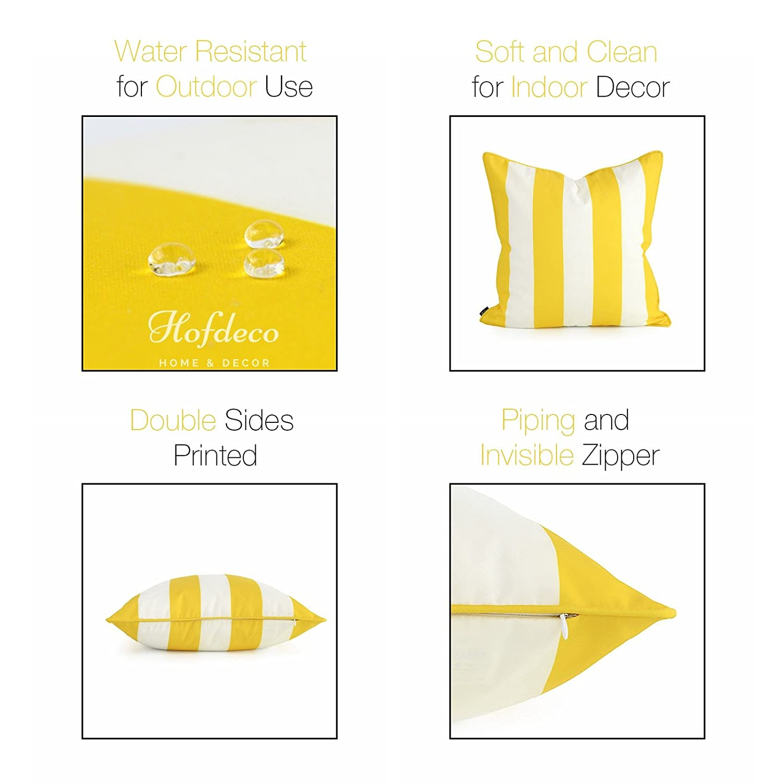 Hofdeco Decorative Throw Pillow Cover Indoor Outdoor Water Resistant Canvas Vibrant Yellow Greek Key 18x18 03 0204 04