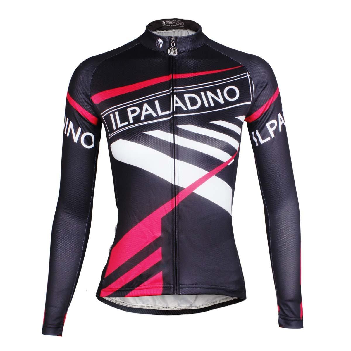 Ilpaladino レディース バイクシャツ 長袖 タイトデザイン サイクリングジャージ Large Move B01N79T127