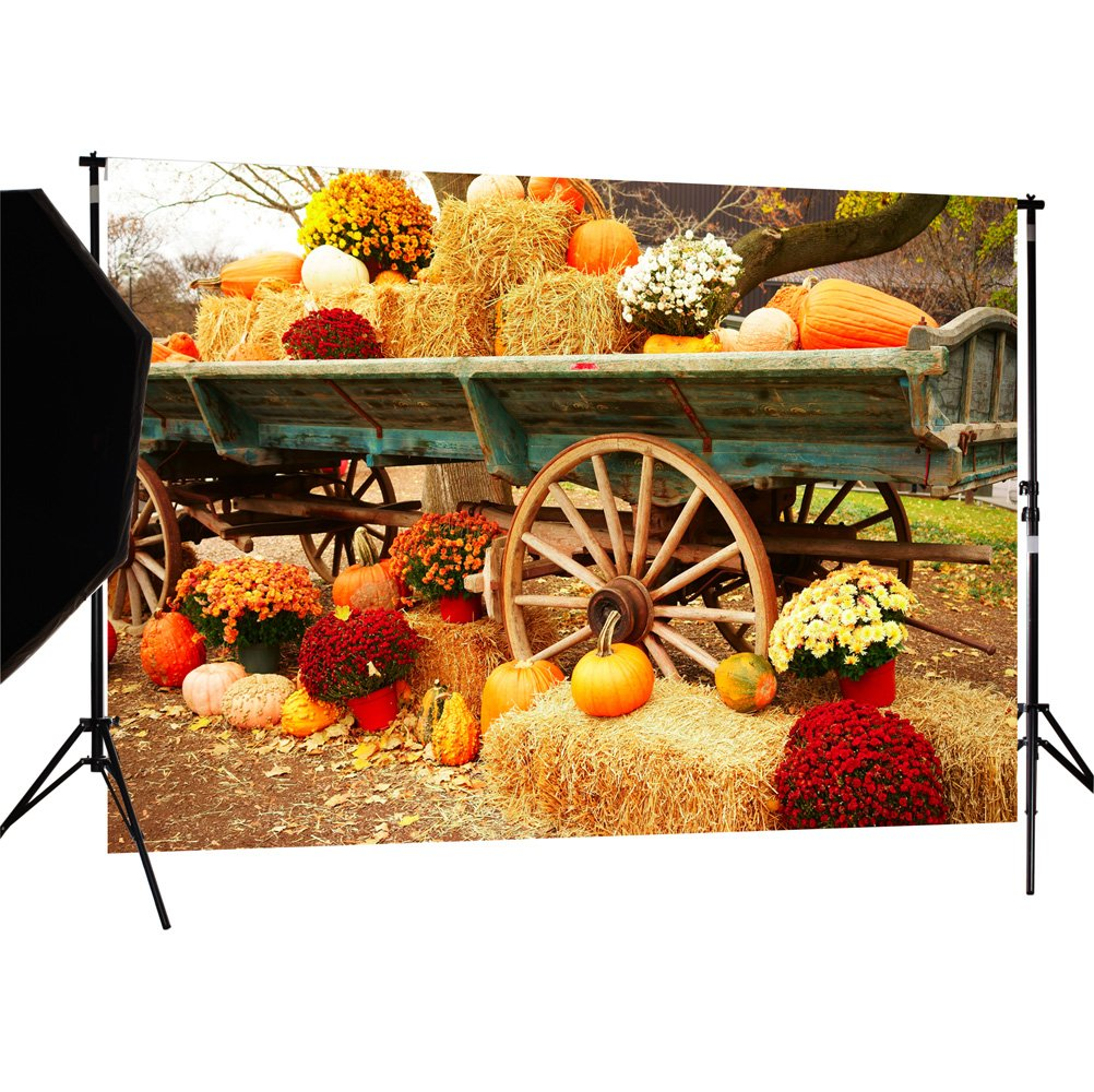 DULUDA 7X5FT Halloween Pumpkin Pictorial cloth Backdrop photography Background studio prop for Christmas WXL39