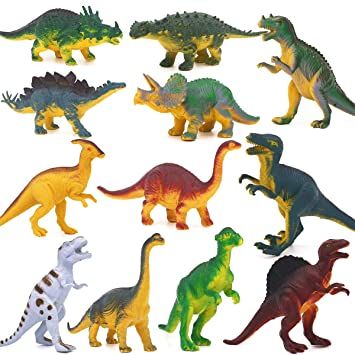 12pcs Dinosaurios Juguetes, Figuras de Dinosaurio Adornos ...