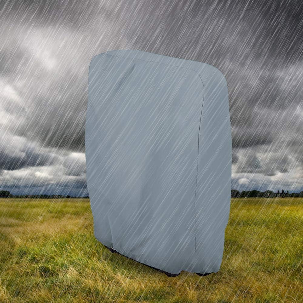 gravit/à Zero Anti-UV Tessuto Oxford 210D Copertura per Sedia a Sdraio Pieghevole Giardino Relax Foreveryoung9 Impermeabile Copri Lettini Prendisole Grigio