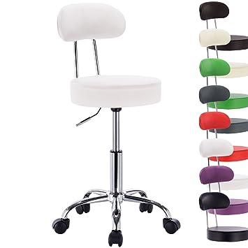 woltu bh34ws-1 sedia ufficio scrivania sgabelli con schienale ... - Set Da Scrivania Moderno