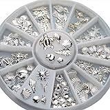 BODHI20001Wheel nail art Decoration mini Ocean accessori argento Shell conch Mixed size 3D manicure accessori