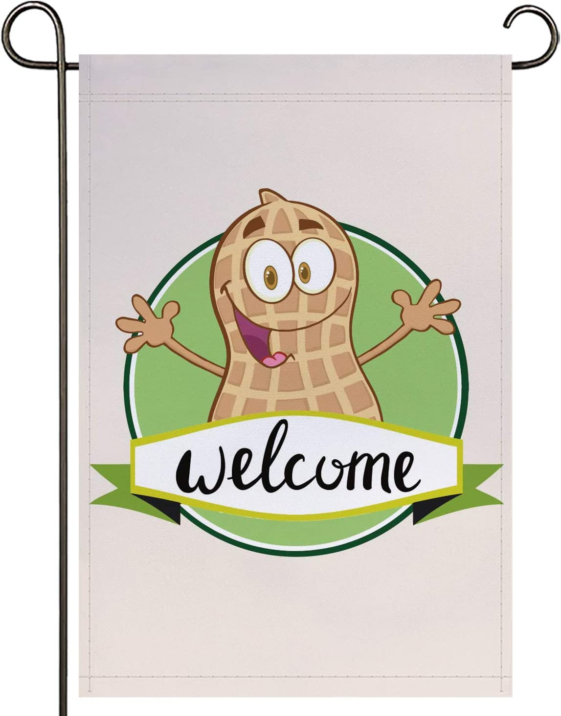 onetoze Peanut Garden Flag Vertical Double Sided, 12.5X 18inch Welcome Garden Flag, Premium Polyester Weather and UV Resistant for Yard Outdoor Decoration