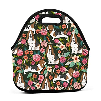 f213878b376f Amazon.com - ONUPMIN Ideal Gifts - Insulated Lunch Bag Basset Hound ...
