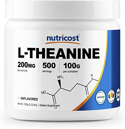 Nutricost L-Theanine Powder 100 Grams – Gluten Free Non-GMO