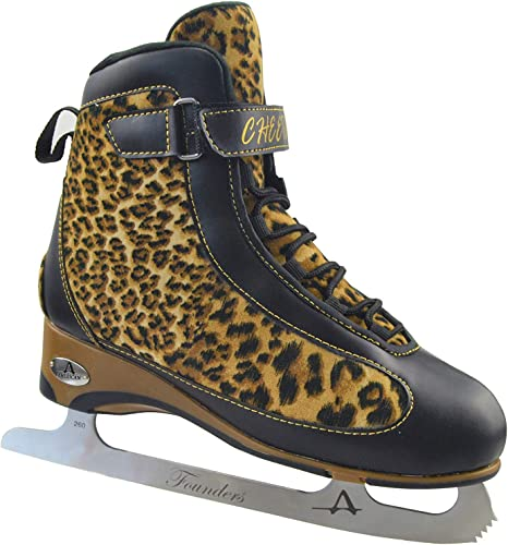 Women s American Soft Boot Cheetah Figure Skate