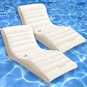INTEX Colchón Hinchable Deluxe Wave Lounge 1,93 m x 1,02 m ...