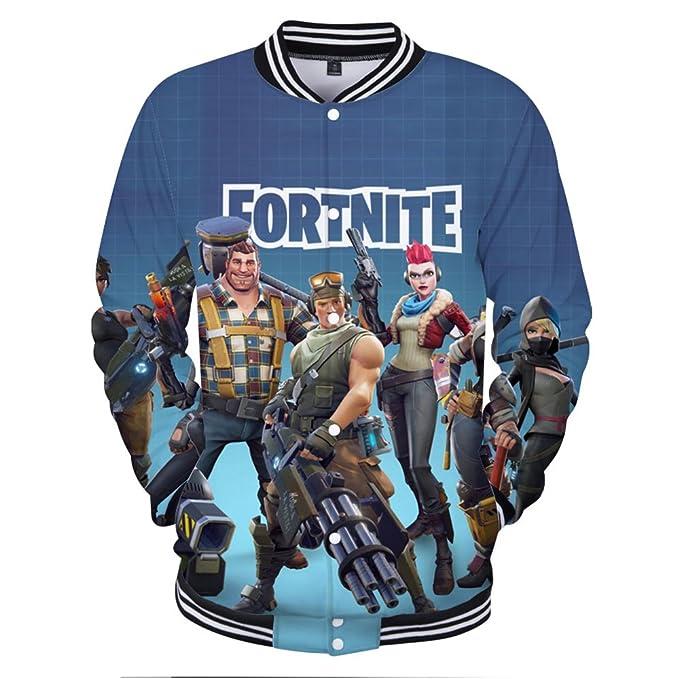 EMILYLE Unisex Fortnite Game Scene Impreso Figura Hoodie Fortnite PVP Pullover Sudadera con Capucha para Hombres Niño E6zxQvy5m