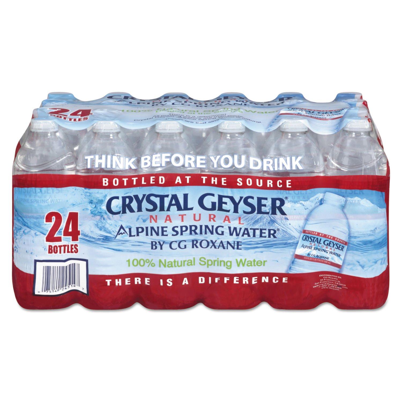 Crystal Geyser, 24514CT, Alpine Spring Water, 16.9 oz Bottle, 24 Bottles in Case, Sold As 1 Case