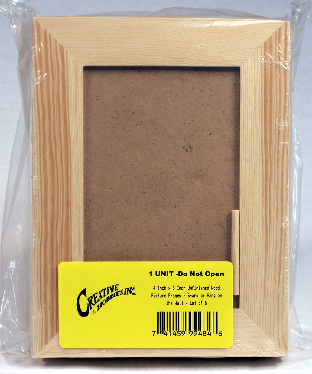 Amazon creative hobbies 4 inch x 6 inch unfinished wood amazon creative hobbies 4 inch x 6 inch unfinished wood picture frames stand or hang on the wall lot of 6 jeuxipadfo Images