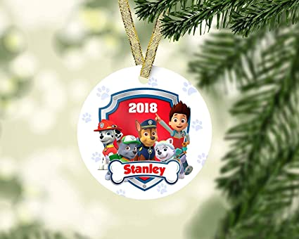 Chase Christmas Eve Hours.Amazon Com Mesllings Paw Patrol Christmas Ornament Marshall