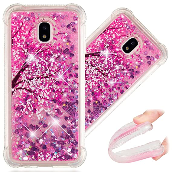 sports shoes be2ce 134b7 J7 Pro Case, 3D Cute Painted Glitter Liquid Sparkle Floating Luxury Bling  Quicksand Shockproof Protective Bumper Silicone Case Cover for Samsung ...