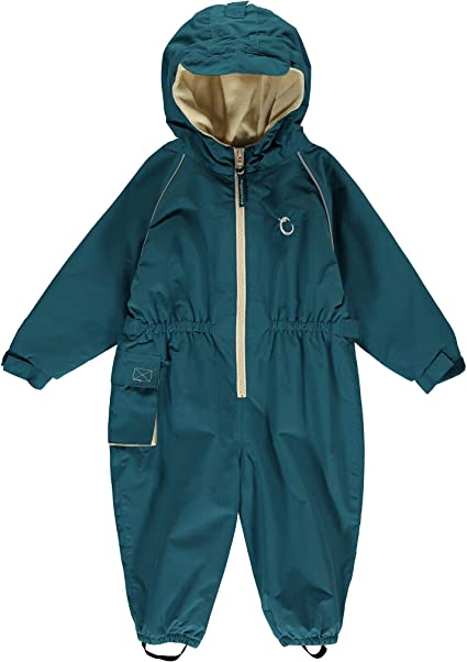 Hippychick Fleece Lined Waterproof All in One Suit Peacock Green 12-18 mths