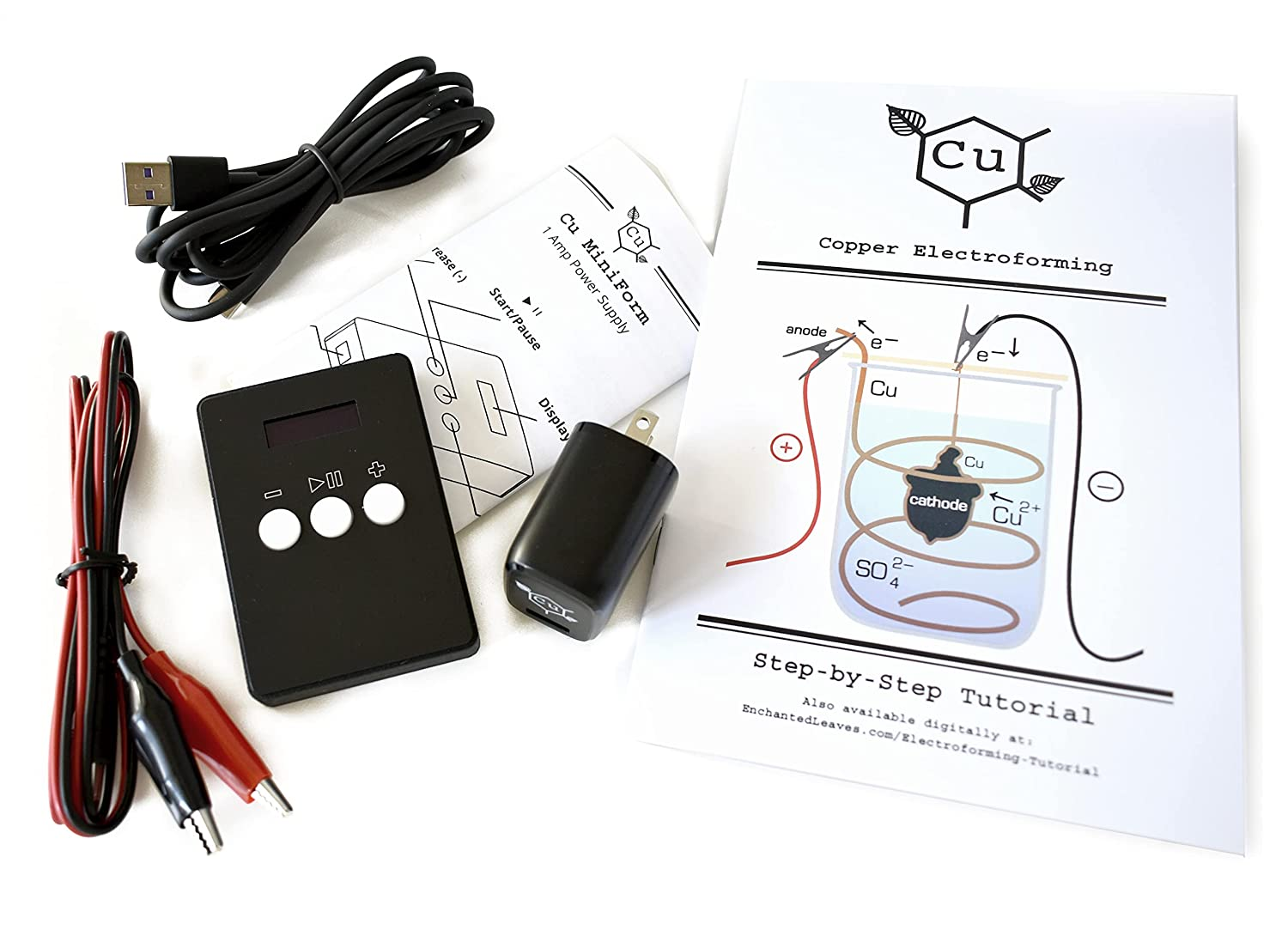 Cu MiniForm Power Supply for Electroforming | Small Electroformed Jewelry Rectifier | Learn How to Electroform Jewelry | Electroformer Guide