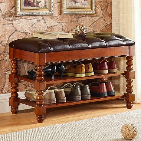 Amazon.com: Banco banco con cojín tapizado asiento acolchado ...