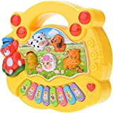 Baby Music Toy - Musical Educational Piano Animal Farm Developmental Music Toy (Yellow, Red random)