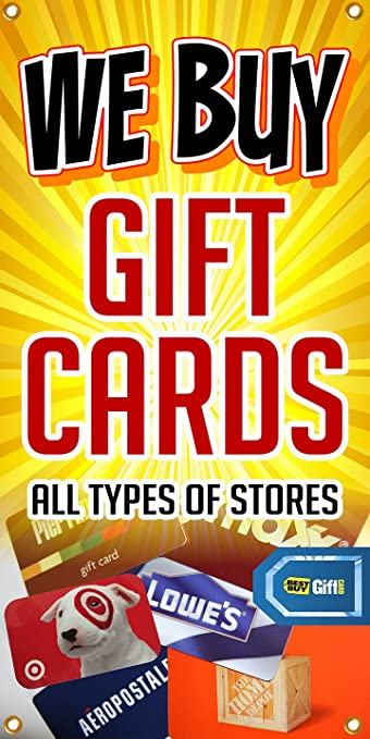 Amazon.com : The Large Outdoor/indoor We Buy Gift Cards Banner ...