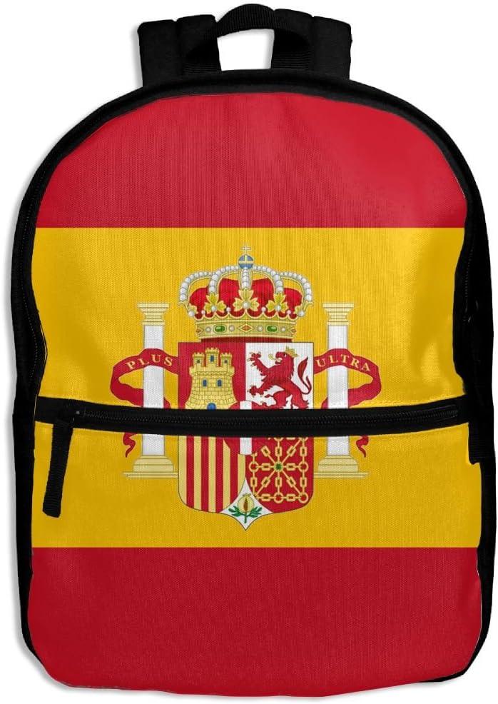 Mochila bandera española para la escuela, mochila, hombro, bolso escolar para niñas y niños: Amazon.es: Hogar