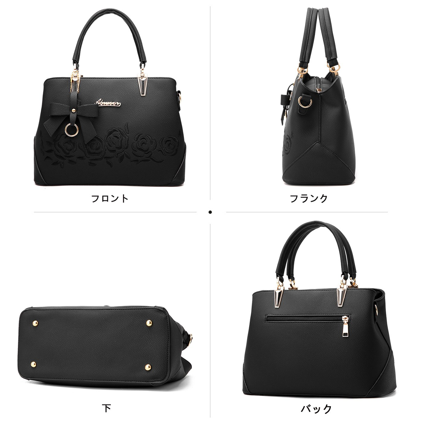 f8c67fe7d041 Amazon | Tisdaini レディース手提げバッグシンプルエンボスおしゃれショルダー斜めがけバッグ女性用バッグ | ハンドバッグ