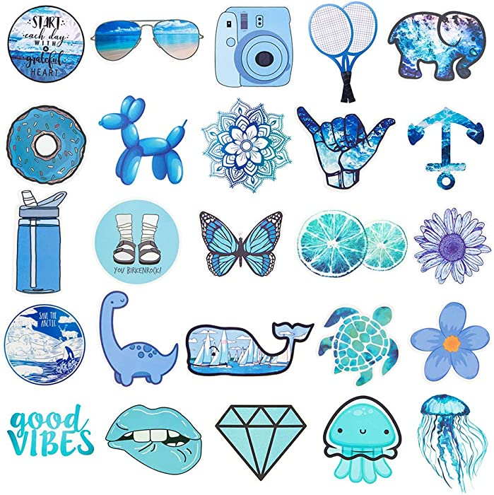 Cute VSCO Stickers for Water Bottles, Hydro Flask Stickers, Laptop Stickers, Waterproof Aesthetic Vinyl Stickers for Kids Teens, Cool Stickers for Hydro Flask Water Bottles Skateboard Computer Phone