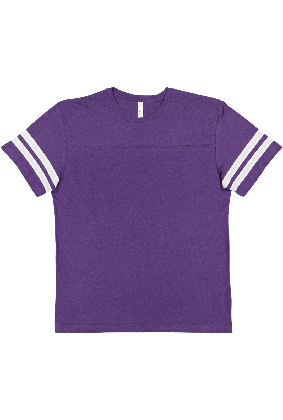 LAT Men's Fine Jersey Crew Neck Short Sleeve Football Tee (Vintage Purple/Blended White, Xtra Large) by LAT (Image #2)