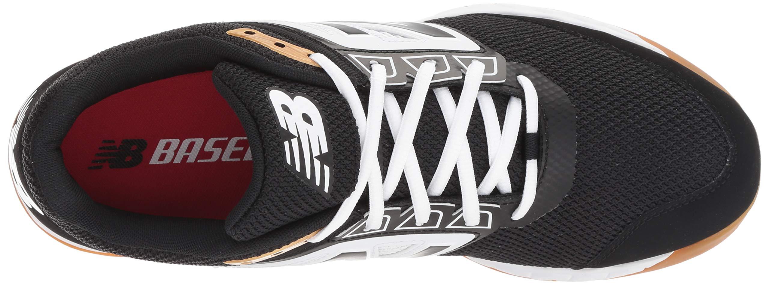 New Balance Men's 3000v4 Turf Baseball Shoe, Black/White, 5 D US by New Balance (Image #8)