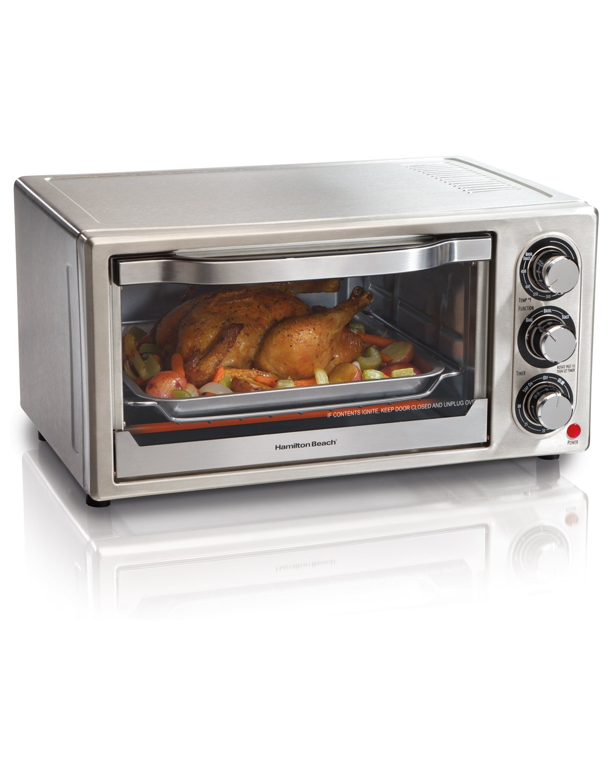 Hamilton Beach 31511 Stainless Steel 6-Slice Toaster Oven