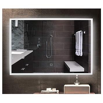 TYGREEN Miroir LED 80x60cm 18W Lampe Miroir Salle de Bain LED,Miroir ...